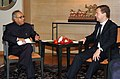 The Union Minister of External Affairs, Shri Pranab Mukherjee meeting with the President of Russia, Mr. Dmitry A. Medvedev in New Delhi on December 05, 2008.jpg
