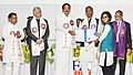 The Vice President, Shri M. Venkaiah Naidu presenting the gold medals and certificates to Students, at the Convocation of the ICFAI University, in Dehradun, Uttarakhand (3).JPG
