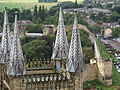 The View from the Central Tower of Lincoln Cathedral towards Lincoln Castle.jpg