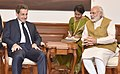 The former President of France, Mr. Nicolas Sarkozy calls on the Prime Minister, Shri Narendra Modi, in New Delhi on April 13, 2016 (2).jpg
