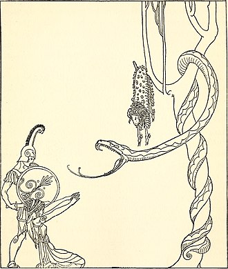 Sandworm (Dune) - Jason faces the dragon that guards the Golden Fleece.