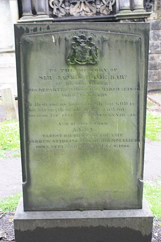 Home baronets - The grave of Sir James Home 1790-1836, Greyfriars Kirkyard