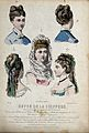 The heads and shoulders of five women with their hair combed Wellcome V0019890ER.jpg