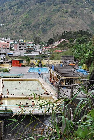 Baños de Agua Santa - Thermal baths in Baños.