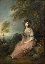 painting of woman sitting under a tree