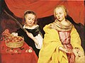 Thomas Willeboirts Bosschaert - Two Girls as Saint Agnes and Saint Dorothy c. 1650.jpg