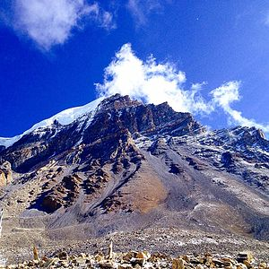 Manang District, Nepal - Thorangla pass with an elevation of 5,416 metres above sea level