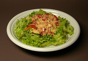 Salad with Thousand Island Dressing