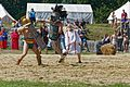 Thraex murmillo show fight Carnuntum 2015 01.jpg
