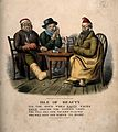 Three miserable men suffering from gout, toothache and flu Wellcome V0012085.jpg