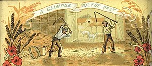 Threshing - Image: Threshing with flail RSJ