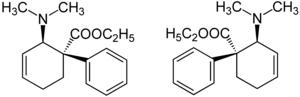 Strukturformel von Tilidin