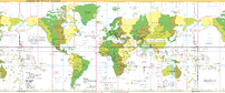 Standard Time Zones of the World as of 2005.