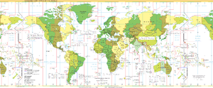 Standard Time Zones of the World as of 2005. (...