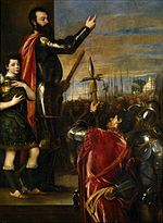 Titian (Tiziano Vecellio)- Alfonso di'Avalos Addressing his Troops.JPG