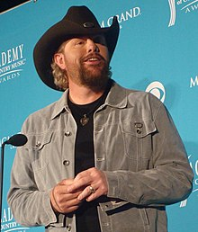 Toby Keith - the cool musician  with German, Irish, Scottish, English,  roots in 2017