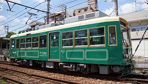 Toei 7700 series - Image: Toei 7700 7701 Arakawa shakomae 20160730 (1)