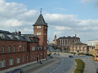 Freeport of Copenhagen - The Custom House (left) with the Central Power Station, Manufakturhuset, and Silo Warehouse in the background
