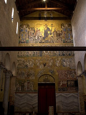 Last Judgment: 12th-century Byzantine mosaic from Torcello Cathedral Torcello - Santa Maria Assunta.Last Judgement.jpg
