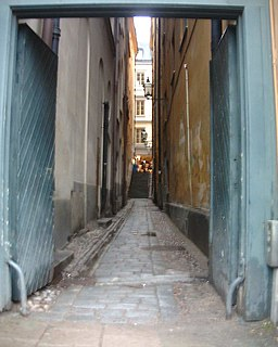Torgdragargränd alley in Gamla stan, Stockholm, Sweden