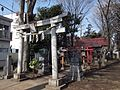 Toriis (鳥居) at Hanegi Shrine (羽根木神社) - panoramio.jpg