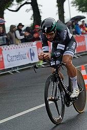 Sagan impegnato nella cronometro d'apertura del Tour de France 2017