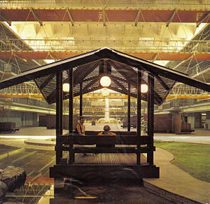 Dallas Market Center - Pergola in the Dallas Trade Mart Grand Courtyard c.1958