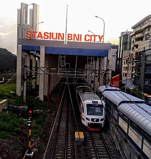 BNI City railway station railway station in Indonesia