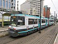 Tram 1013 at St Peter's Square Metrolink station, Manchester.JPG