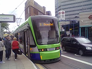 Tram 2558 at West Croydon.jpg