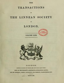 Transactions of the Linnean Society of London, Volume 22.djvu