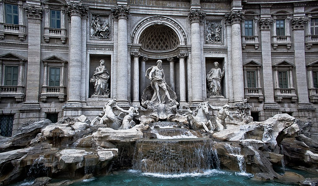 Trevi Fountain, Rome, Italia