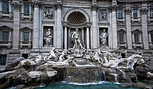 Trevi Fountain - Trevi Fountain in Rome, Italy.