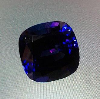 Tanzanite - Untreated tanzanite gemstone