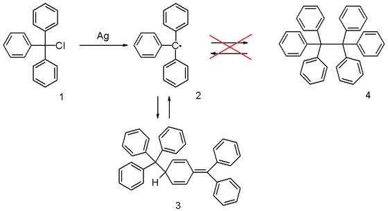 三苯甲基自由基 图1