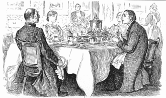 """Punch (magazine) - """"True Humility"""":  Bishop: """"I'm afraid you've got a bad egg, Mr Jones""""; Curate: """"Oh, no, my Lord, I assure you that parts of it are excellent!""""  George du Maurier, originally published in 1895"""