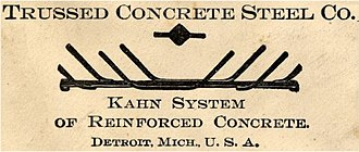 Trussed Concrete Steel Company - Image: Trussed Concrete Steel Co logo 1903