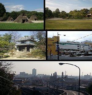 Tsuchiura - Upper: Kijo Park Middle:Tsuchiura Castle, Tsuchiura Station Lower:Skyline