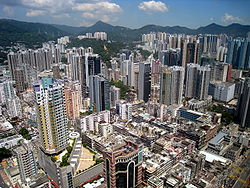 Overview of Tsuen Wan city centre