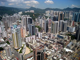 Tsuen Wan District - The buildings in Tsuen Wan Town