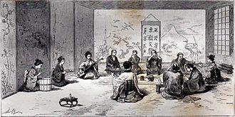 Eugène Collache - Reception of Eugène Collache by a Minister of the Daimyo of Tsugaru