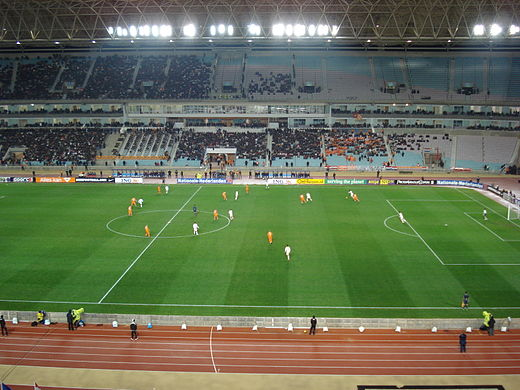 Tunisia national football team playing Tunisia - Netherlands (Stade de Rades) 3.jpg