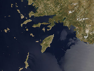 Datça Peninsula - Satellite image from NASA Visible Earth