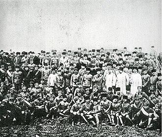 First Army (Turkey) - Turkish commanders visited the headquarters of the First Army, 18 January 1923. From left to right: Vehbi Bey (Kocagüney), Nurettin Pasha, Gazi Mustafa Kemal Pasha (Atatürk), Kâzım Karabekir Pasha, Mareşal Fevzi Pasha (Çakmak), Asım Bey (Gündüz).