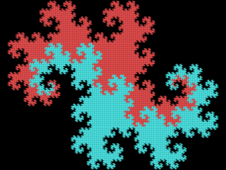 Dragon curve - Twindragon curve constructed from two Heighway dragons.