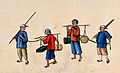 Two Chinese prisoners shackled and carrying heavy loads Wellcome V0041448.jpg