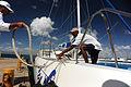 Two men berthing a yacht. Catalina Island, La Romana, Dominican Republic (reportage).jpg