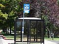 Typical UTA bus stop with shelter, Jul 15.jpg