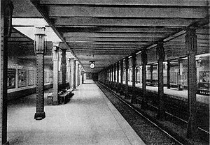 Deutsche Oper (Berlin U-Bahn) - Bismarckstraße station, 1908