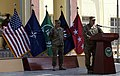 U.S. Army Gen. John F. Campbell, at the lectern, the commander of the International Security Assistance Force and U.S. Forces-Afghanistan, addresses a crowd in Kabul, Afghanistan, Sept 140911-A-XE780-013.jpg